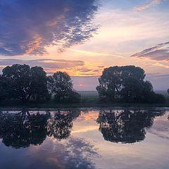 "photo ""Dawn on the Oka-river"""