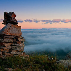 "фото ""Рассвет над облаками"""