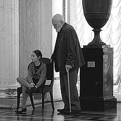 """фото """"в музее Эрмитаж с дедушкой"""""""