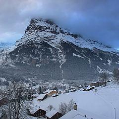 """фото """"Утро в Альпийской деревне"""""""