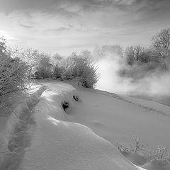 """фото """"Тропинки у морозной речки"""""""