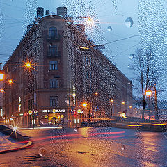 "photo ""Pattern of light and rain"""
