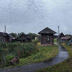 "photo ""Russia. city of Myshkin, rain"""