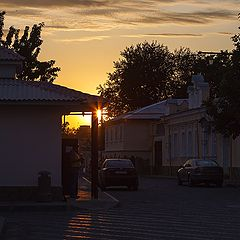 """photo """"Evpatoria. Sunset in the old town."""""""