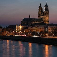 """фото """"Магдебург, вид на на Эльбу и главный кафедральный собор"""""""