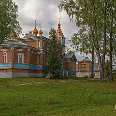 "photo ""Vazheozersky monastery. Church of the Transfiguration of the Lord"""