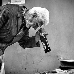 """photo """"Старик, собиратель бутылок"""""""
