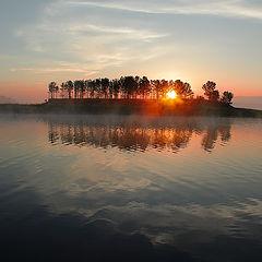 """фото """"Восход у островка с занятным названием """"булочка""""))"""""""