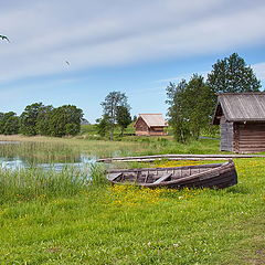 """photo """"landscape with the boat"""""""