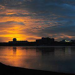 """photo """"Sunset. Krasnoyarsk"""""""