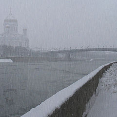 "photo ""remembering winter - snowfall in Moscow"""