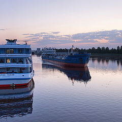 "photo ""evening on the Volga-Baltic Waterway"""