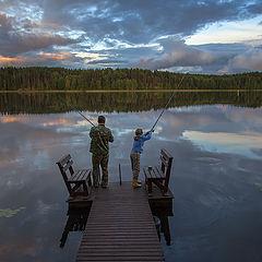 """фото """"Рыбаки небесного озера"""""""