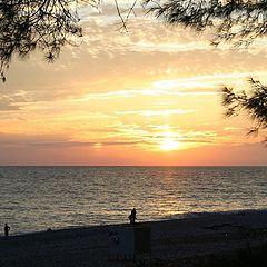 "photo ""Sunset in Pitsunda"""