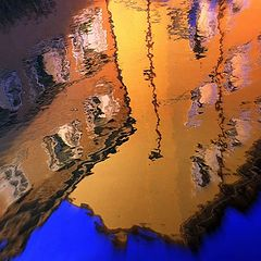 "фото ""Shapes, light and color in the water mirror.."""