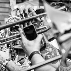 "photo ""An instant of the jazz parade"""