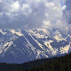 """фото """"Снежные горы Адыгеи"""""""