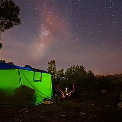 "фото ""night watchers under the Milky Way"""