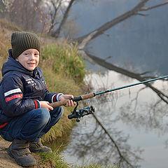 "фото ""Егорка на рыбалке"""