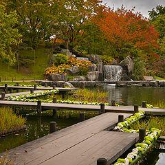 """photo """"Japanse tuin herfst"""""""