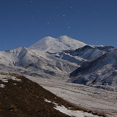"photo ""Elbrus and stars"""