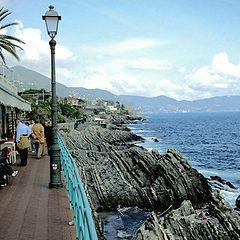 "photo ""promenade of Nervi, Genoa"""