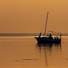 """photo """"Walking at sunset"""""""