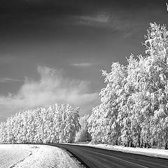 """фото """"Зимняя дорога."""""""