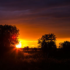 """photo """"Sunset in the countryside"""""""