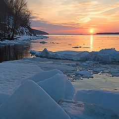 "photo ""Spring sunset on the Volga"""