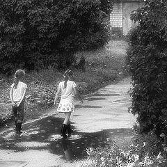 "photo ""Childhood. Puddles. Rain."""