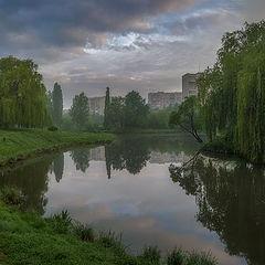 """фото """"Раннее утро в городском парке..."""""""