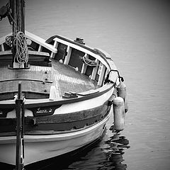 """photo """"boat in the harbour"""""""