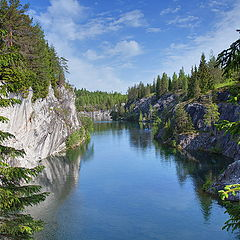 "photo ""Russia, Karelia, marble pit of Ruskeal"""