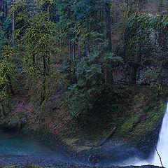 """photo """"Having passed under the waterfall"""""""