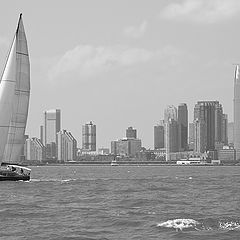 "фото ""Sailing in New York harbor"""