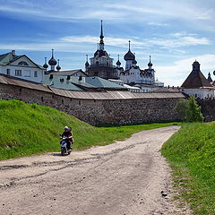 "photo ""at monastery walls. Solovki"""