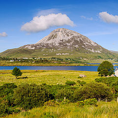 "photo ""Panoramic landscape with Mount Errigal"""