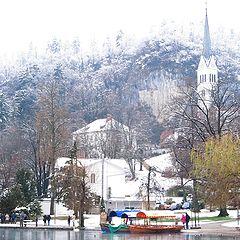 """photo """"Церковь Св.Мартина на озере Блед"""""""