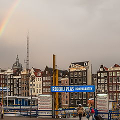 """фото """"Rainbow over the city."""""""