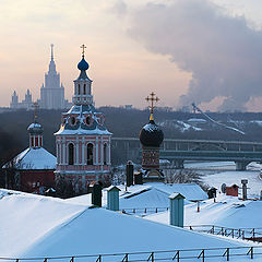 "фото ""зимний вид на Андреевский монастырь"""
