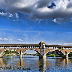 """фото """"il ponte coperto di Pavia"""""""