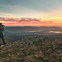 "фото ""Вид на Чернореченское водохранилище с Ирита -кая."""