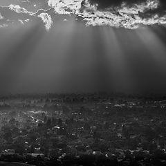 "photo ""Вечер, облако, Солнце"""