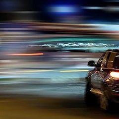 "фото ""ночь, улица, огни, машина..."""
