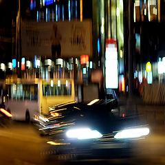 """photo """"ночь, улица, огни, машинки :)"""""""