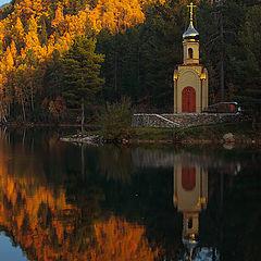 """фото """"Изумрудное озеро. Осень"""""""