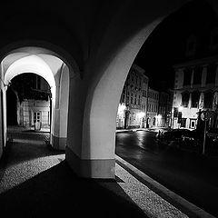 """photo """"Ночная аркада и дома"""""""