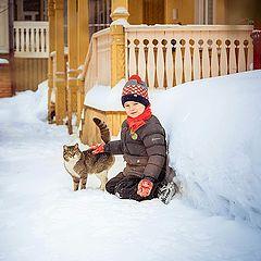 """фото """"Мальчик и кот"""""""