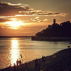 "фото ""sunset on the Amur"""